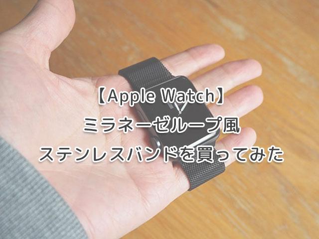 【Apple Watch】ミラネーゼループ風ステンレスバンドを買ってみたの画像