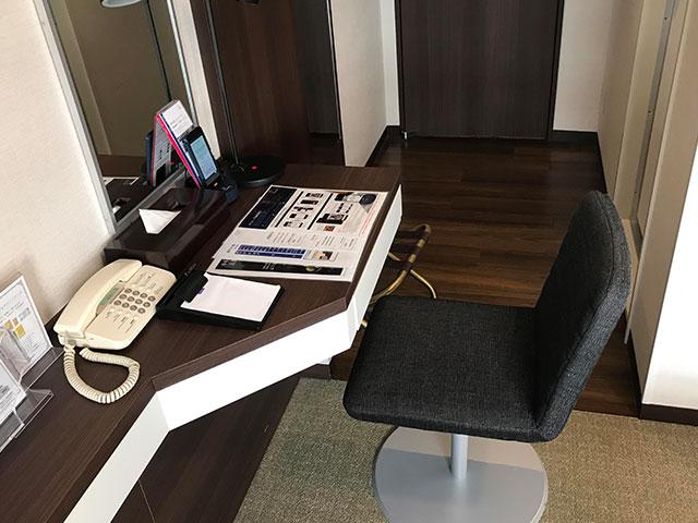 品川東武ホテルの部屋デスクまわりの画像