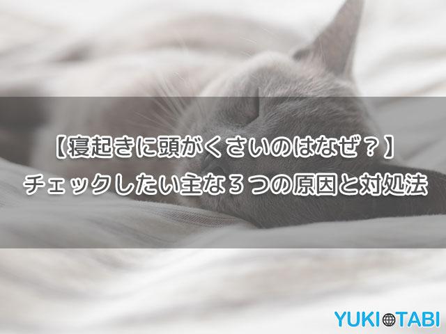 【寝起きに頭がくさいのはなぜ?】チェックしたい主な3つの原因と対処法