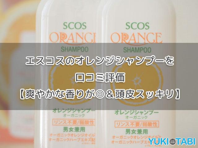 エスコスのオレンジシャンプーを口コミ評価【爽やかな香り&頭皮スッキリ】